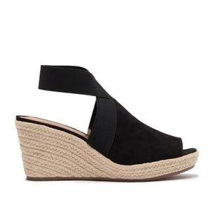 KENNETH COLE Cara Espadrille Wedge Sandal shoe 9